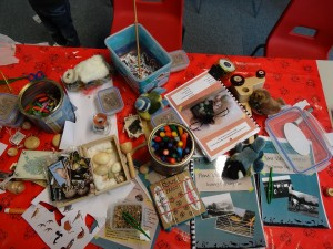 Some of the contents of the Learning Lanterns.  Photo by Katie King