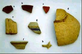 Roman road fragments Photo courtesy of Historic England