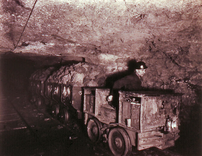 Underground at the Ebbw Vale Mine Photo courtesy of A Pack